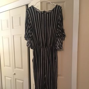 Gibson Latimer striped jumpsuit NEVER WORN NWOT